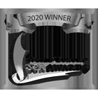 2020 Winner Logo (Black Text, Transparent Background) Grey